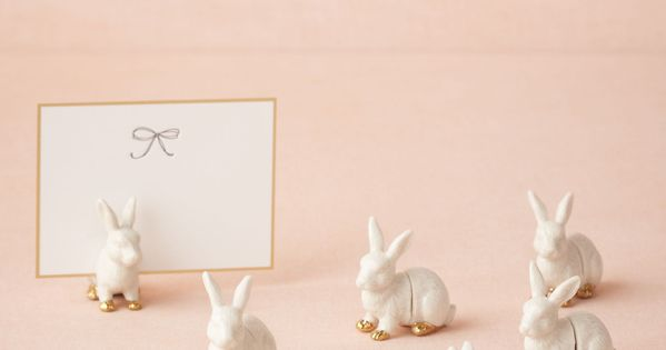 Bunny/any plastic animal Place Card Holders
