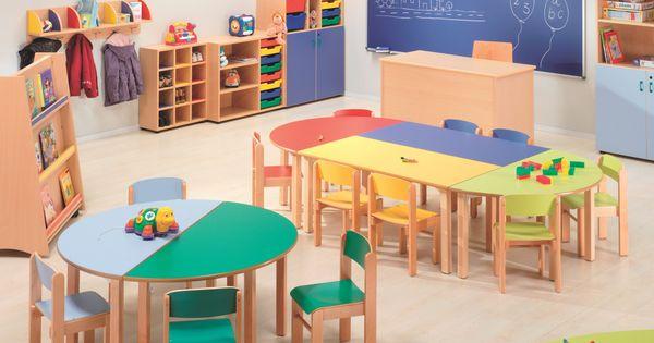 Resultado de imagen para mesa comedor guarderia medidas for Mobiliario para ninos