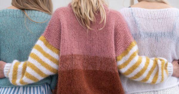 Sukkerspinngenser | Garnpakke V hals genser av HipKnitShop