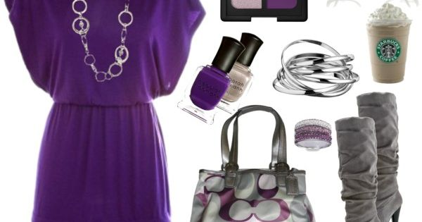 purple and coach purse, I have the same pattern purse, different style!
