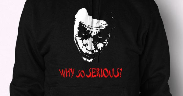 Joker Hoodie Why So Serious Batman Jumper Heath Ledger