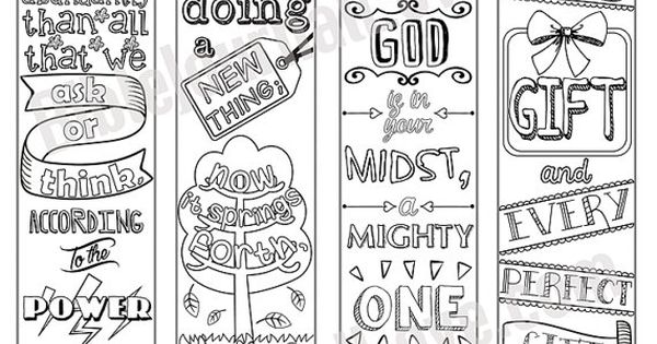 Printable Coloring Bible Journaling Margin Strips Faith Verses For Wide Bible Margins Or Planner