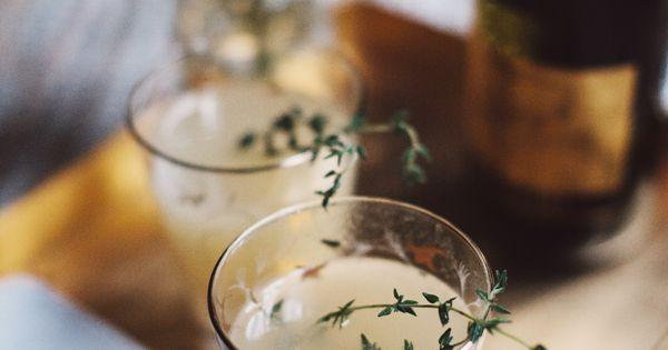 pear nectar + thyme mimosa