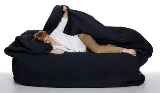 "I so need this in my house - a bean bag ""bed"""