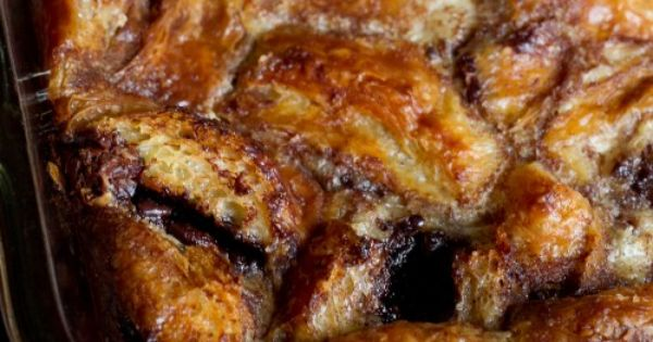 Croissant bread puddings, Nutella croissant and Croissant bread on ...