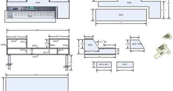 Cjd how to build a recording studio desk under 100 dollars for Home studio plans