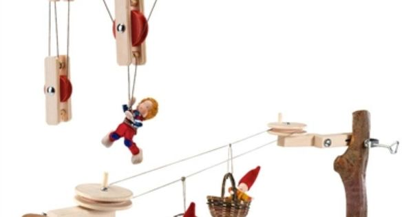 Pulley cable car kit this would be so much fun for the for Magic cabin tree fort kit
