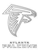 Atlanta Falcons Logo Coloring Page Atlanta Falcons Logo Atlanta