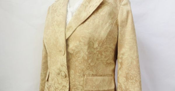 Gold jacket coat vintage dressy fitted blazer by for Vintage sites like etsy