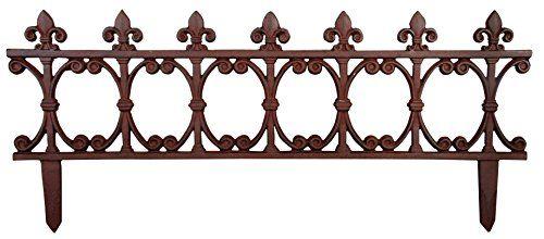 Esschert Design Usa Ps21 Cast Iron Garden Fence Offer Can Be