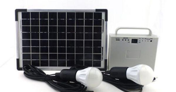 Solar Lighting Kit L 20w Solar Panel 12v4 5ah Battery 5v 12v