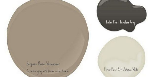 Brick house bm weimaraner a warm gray with brown undertones porter paint tumstone gray for Porter exterior paint