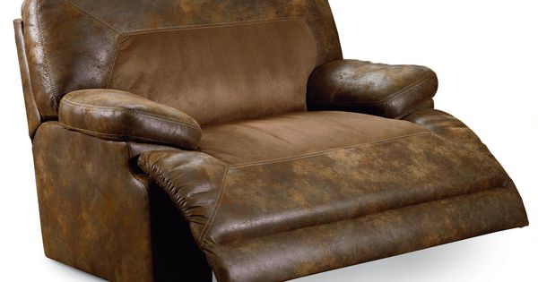 Bradley Two Toned Oversized Snuggler Recliner By Lane
