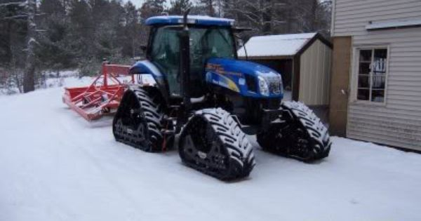 New Holland Tractor On Track Conversion Used As A Snow Groomer Tractors New Holland Tractor Farm Toys