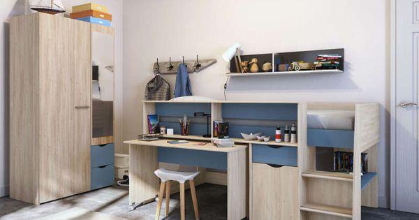 Lit Combine 90x200 Cm Tempo Pop Coloris Chene Relief Et Blanc Brillant Vente De Lit Enfant Conforama Lit Enfant Conforama Lit Combine Lit