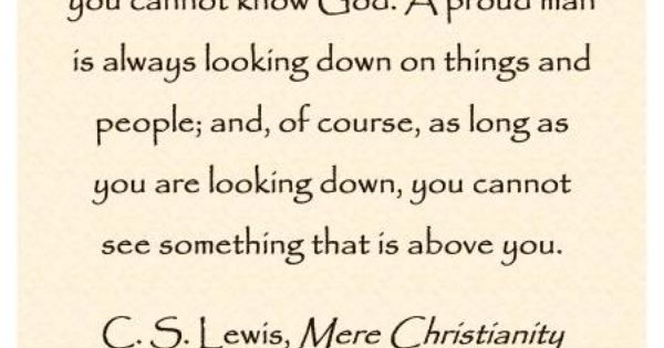 cs lewis on pride 1 Cslewisdaily c s lewis is one of the most quoted authors on twitter on the anniversary of his birthday, nov 29, we've decided to celebrate his life by sharing.