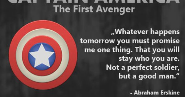 Movie Quote: Captain America – The First Avenger
