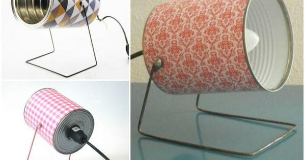 faites le plein de cr ativit avec ces 40 objets d tourn s en lampes deco pinterest. Black Bedroom Furniture Sets. Home Design Ideas