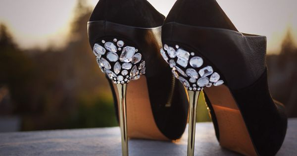 DIY miumiu jeweled heels