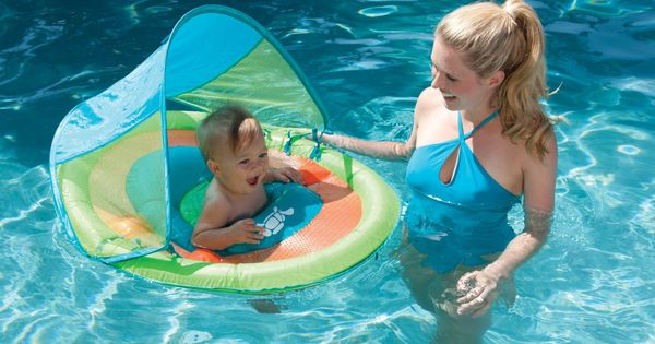 Baby Pool Float With Sun Canopy It S Summertime Baby