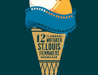 12th Annual Whitaker St. Louis Filmmakers Showcase poster design - film strips
