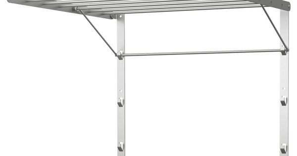grundtal drying rack wall 22x21 ikea mount in shower to dry clothes folds flat when. Black Bedroom Furniture Sets. Home Design Ideas