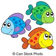 Cute Color Fishes Isolated Illustration Fish Clipart Clip Art Cartoon Fish