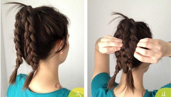 braided bun hairstyle tutorial