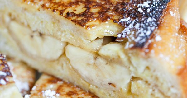 Banana Breakfast Sandwiches with Cinnamon and Vanilla on French Bread | Breakfast