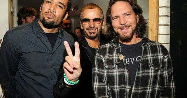 Ben Harper Ringo Starr And Eddie Vedder With Images Eddie