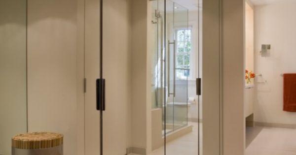 Armadio con ante a specchio bianco legno per l for Armadio bianco e specchio