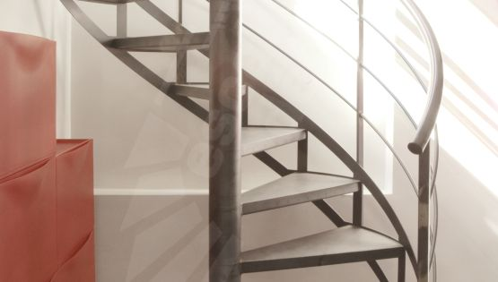 escalier h lico dal m tallique au style industriel spir. Black Bedroom Furniture Sets. Home Design Ideas