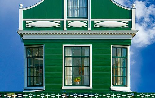 Traditional village house, Zaandam, Netherlands photography architecture emerald