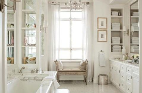 All white bathroom decor bathroom idea bathroom design bathroom inspiration| http://bathroomdesign627.blogspot.com