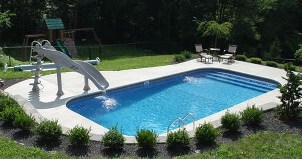 Small Inground Pools | ... kitchens and fireplaces pool ...