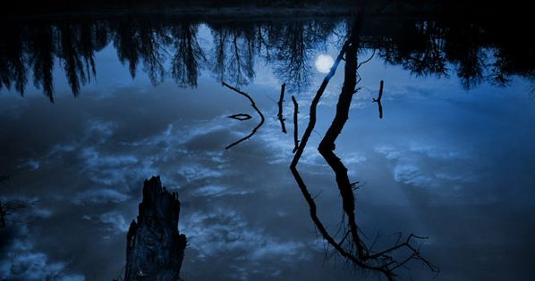 Blue Moon Lagoon. I love when the moon reflects off the lake