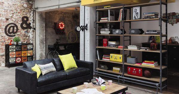 Muebles y decoraci n de estilo industrial loft y f brica - Muebles maison du monde segunda mano ...