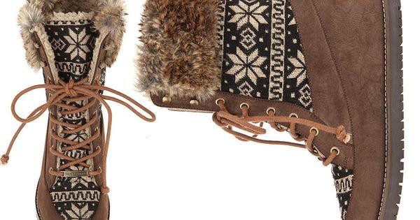 Brown Nordic Fuz Walker Boots $105 www.lebunnybleu.com lebunnybleu shoes balletflats sneakers walkers