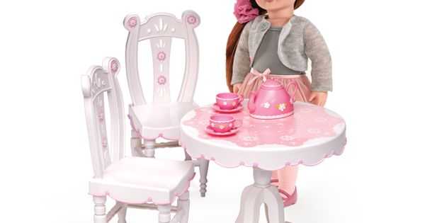 Tea Parlor Table Amp Chairs Our Generation Dolls Ag