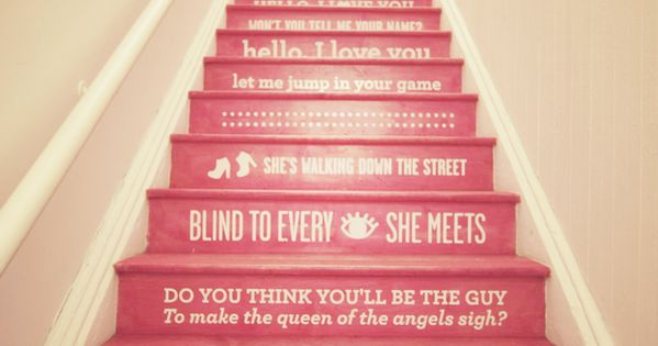 LOVE painted stairs! stairs staircase house home decor