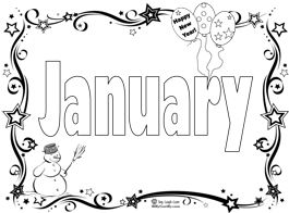 Start The New Year With A January Coloring Page Song New Year