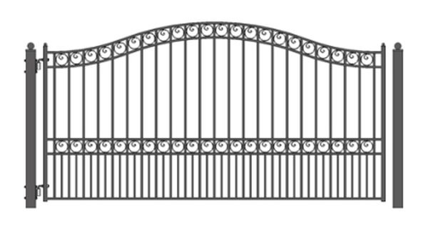 Brand New Paris Style Single Sing Iron Driveway Gate 12 X 6 1 4 Wrought Iron Gate Designs Iron Gate Design Iron Gates