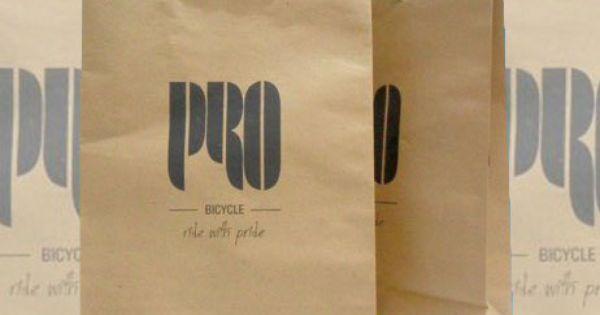 tas kertas jakarta pro bicycle kertas daur ulang kraft coklat | Desain ...