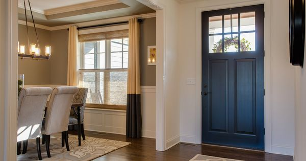 Foyer Front Door Opening Into Dining Room Farinelli Construction Home Open Dining Room Dining Room Combo Living Room Dining Room Combo