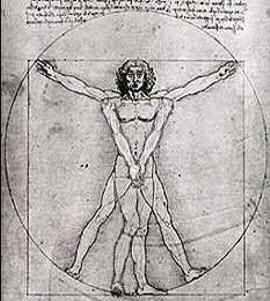 Hombre De Vitruvio Vitruvio Vitrubio Renacimiento