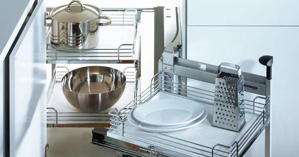 Ensemble magic corner ii pour armoires de cuisine for Accessoires de rangement pour cuisine