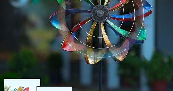 Solar Led Flower Wind Spinner Wind Spinners Pinterest