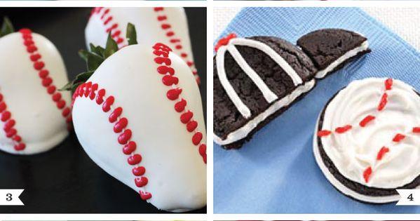 pinterest baseball party ideas | Baseball Party Desserts