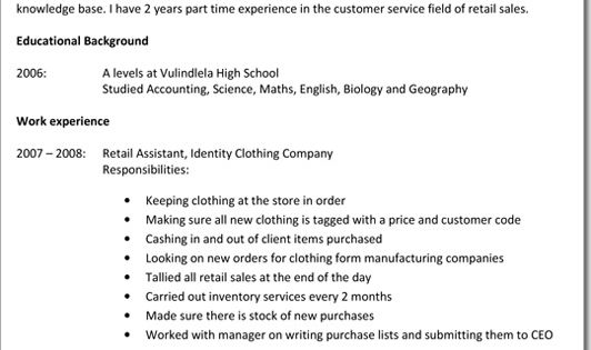 Pin by Thania on disp Pinterest - resume for clothing store