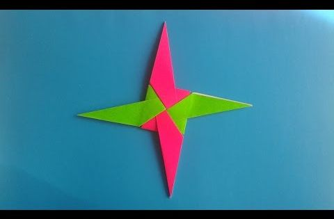 Como Hacer Una Estrella Ninja De Papel Youtube Ninja Star Ninja Star Origami Shuriken